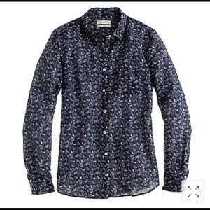 J. CREW   boy shirt in bird print 10
